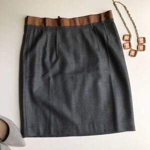 Loft Wool Blend Mini Skirt